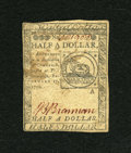 Colonial Notes:Continental Congress Issues, Continental Currency February 17, 1776 $1/2 Extremely Fine-AboutUncirculated....