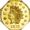 California Fractional Gold, 1872 $1 Indian Octagonal 1 Dollar, BG-1119, High R.5, MS64Prooflike NGC....