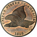 Patterns, 1858 P1C Flying Eagle Cent, Judd-193, Pollock-236, R.5, PR64 PCGS....