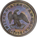 Patterns, 1836 P2C Two Cents, Judd-54, Pollock-57, Low R.6, PR63 Red and Brown PCGS....