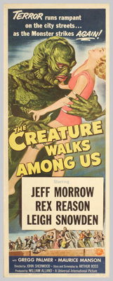 """The Creature Walks Among Us (Universal International, 1956). Insert (14"""" X 36""""). In this final sequel to """"..."""