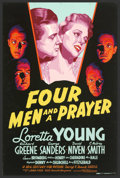 """Movie Posters:Adventure, Four Men and a Prayer (20th Century Fox, 1938). (40"""" X 60"""") SilkScreen. An officer who was wrongly dishonorably discharged ..."""