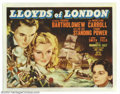 "Movie Posters:Drama, Lloyds of London (20th Century Fox, 1936). (1) Title Card and (3) Scene Cards (11"" X 14""). Here's four great cards from the ... (Total: 4 pieces Item)"
