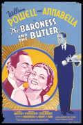 "Movie Posters:Comedy, Baroness and the Butler (20th Century Fox, 1938). (40"" X 60"") SilkScreen. Annabella plays ""The Baroness"", daughter of the H..."