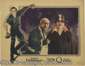 "Movie Posters:Swashbuckler, Don Q, Son of Zorro (United Artists, 1925). (3) Lobby Cards (11"" X14""). The original swashbuckler, Douglas Fairbanks, stars...(Total: 3 pieces Item)"