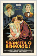 """Movie Posters:Comedy, Shameful Behavior (Preferred Pictures, 1926). One Sheet (27"""" X41""""). Edith Roberts portrays Daphne Carroll, a gawky teenager..."""