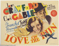 "Movie Posters:Comedy, Love On the Run (MGM, 1936). Title Card (11"" X 14""). They madeeight films together, were the top stars in Hollywood, and as..."