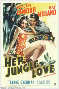 """Her Jungle Love (Paramount, 1938). One Sheet (27"""" X 41""""). After the success of """"Jungle Princess"""" in..."""