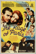 "Movie Posters:Comedy, Rage of Paris (Universal, 1938). (40"" X 60"") Photo Gelatin.Screwball comedy, where French actress Daniell Darrieux made her..."
