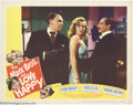 "Movie Posters:Comedy, Love Happy (United Artists, 1950). Lobby Card (11"" X 14""). The MarxBrothers are at it again, this time trying to help some ..."