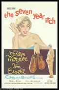 "Movie Posters:Comedy, Seven Year Itch, The (20th Century Fox, 1955). One Sheet (27"" X41""). Billy Wilder directed this amusing sex farce about the..."