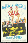 """Movie Posters:Musical, Gentlemen Prefer Blondes (20th Century Fox, 1953). One Sheet (27"""" X 41""""). Marilyn Monroe was at the turning point in her car..."""