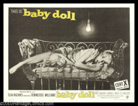 """Baby Doll (Warner Brothers, 1956). British Quad (30"""" X 40""""). It was banned in some cities and condemned by the..."""