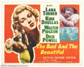 """Movie Posters:Drama, The Bad and the Beautiful (MGM, 1950). Half Sheet (22"""" X 28""""). Many consider this Hollywood drama to be one of the film indu..."""