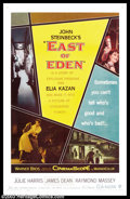 """Movie Posters:Drama, East of Eden (Warner Brothers, 1955). One Sheet (27"""" X 41""""). This was the debut film that brought James Dean to the attentio..."""