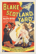 """Movie Posters:Serial, Blake of Scotland Yard (Victory Pictures, 1937). One Sheet (27"""" X 41""""). A 15-episode, sci-fi action serial, that has the her..."""