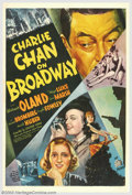 "Movie Posters:Mystery, Charlie Chan on Broadway (20th Century Fox, 1937). One Sheet (27"" X41""). Earl Derr Biggers' Chinese detective, Charlie Chan..."
