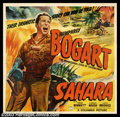 """Movie Posters:War, Sahara (Columbia, 1943). Six Sheet (81"""" X 81""""). Humphrey Bogartstarred in this WWII action adventure of a British American ..."""