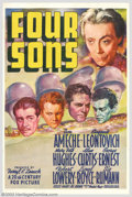 "Movie Posters:War, Four Sons (Fox, 1940). One Sheet (27"" X 41""). This is the remake ofJohn Ford's classic WWI drama, except this version takes..."