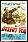 "Movie Posters:War, Desert Fox, The (20th Century Fox, 1951). One Sheet (27"" X 41"").James Mason is utterly convincing as Nazi Field Marshall Ro..."