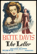 """Movie Posters:Film Noir, The Letter (Warner Brothers 1940). One Sheet (27"""" X 41""""). BetteDavis is a cold-blooded killer who quips, """"I still love the ..."""