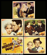 """The Murder Man (MGM, 1935). (1) Title Card and (4) Scene Cards (11"""" X 14""""). Spencer Tracy stars in this thrill..."""