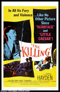 """The Killing (United Artists, 1956). One Sheet (27"""" X 41""""). This film is based on the novel """"Clean Break&q..."""