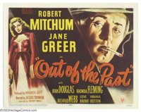 """Out of the Past (RKO, 1947). Title Lobby Card (11"""" X 14""""). This multi-layered film noir classic is the one tha..."""