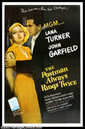 "Movie Posters:Film Noir, The Postman Always Rings Twice (MGM, 1946). One Sheet (27"" X 41"").James M. Cain's shocking crimer told a gritty story of a ..."