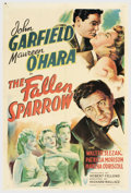 "Movie Posters:Film Noir, The Fallen Sparrow (RKO, 1943). One Sheet (27"" X 41""). JohnGarfield stars in this war-time thriller about a vet investigati..."