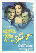 "Movie Posters:Film Noir, The Stranger (RKO, 1946). One Sheet (27"" X 41""). Orson Wellesdirected and starred in this thriller set in a small New Engla..."