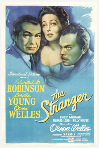 """The Stranger (RKO, 1946). One Sheet (27"""" X 41""""). Orson Welles directed and starred in this thriller set in a s..."""