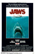 "Movie Posters:Horror, Jaws (Universal, 1975). One Sheet (27"" X 41""). Based on Peter Benchley's best-selling novel, director Steven Spielberg creat..."