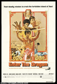 """Enter the Dragon (Warner Brothers, 1973). One Sheet (27"""" X 41""""). Though Bruce Lee had garnered national attent..."""