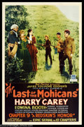 "Movie Posters:Serial, Last of the Mohicans (Mascot, 1932). One Sheet (27"" X 41""). This is the serial version of James Fenimore Cooper's immortal t..."