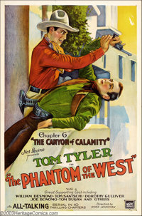 "Phantom of the West, The (Mascot, 1931). (2) One Sheets (27"" X 41""). This was Mascot Pictures' second all-talk..."