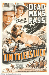 "Tim Tyler's Luck (Universal, 1937). Chapter 2 ""Dead Man's Pass"" One Sheet (27"" X 41""). This was Univ..."