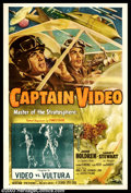 """Movie Posters:Serial, Captain Video (Columbia, 1951). Chapter 15 """"Video vs Vultura"""" One Sheet (27"""" X 41""""). Columbia produced this space serial jus..."""