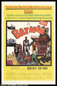 """Batman (20th Century Fox, 1966). One Sheet (27"""" X 41""""). Over thirty-five years ago, Americans from all walks o..."""