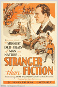 "Stranger Than Fiction (Universal, 1934). One Sheet (27"" X 41""). Were radio announcers meant to be heard and no..."