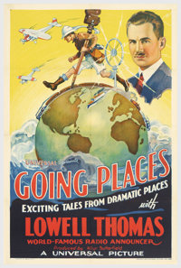 """Going Places (Universal, 1935). One Sheet (27"""" X 41""""). Short subject One Sheets from the 1930's are far scarce..."""