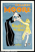 "Movie Posters:Comedy, Naughty But Nice (First National, 1927). One Sheet (27"" X 41""). This romantic comedy starring Colleen Moore and Donald Reed,..."