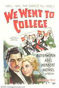 "Movie Posters:Comedy, We Went to College (MGM, 1936). One Sheet (27"" X 41""). Though this film about a college reunion, missed chances and mistaken..."