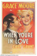 """Movie Posters:Romance, When You're In Love (Columbia, 1937). One Sheet (27"""" X 41""""). Grace Moore was the star of this film as she was an internation..."""