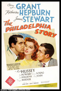 "The Philadelphia Story (MGM, 1940). One Sheet (27"" X 41""). Could there be a better and more sophisticated come..."