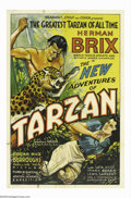 "Movie Posters:Serial, The New Adventures of Tarzan (Burroughs-Tarzan-Enterprise, 1935).One Sheet (27"" X 41""). Author Edgar Rice Burroughs was unh..."