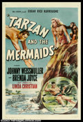 "Movie Posters:Adventure, Tarzan and the Mermaids (RKO, 1948). One Sheet (27"" X 41""). Thiswas the last Tarzan film that Johnny Weismuller would make ..."