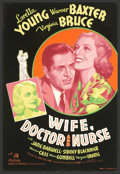 "Movie Posters:Comedy, Wife, Doctor and Nurse (20th Century Fox, 1937). (40"" x 60"") SilkScreen. Loretta Young is the wife, Warner Baxter the docto..."