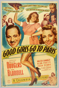 "Movie Posters:Comedy, Good Girls Go to Paris (Columbia, 1939). (40"" X 60"") Photo Gelatin.Born into a vaudeville family, Joan Blondell was a star ..."
