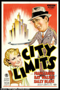 "Movie Posters:Comedy, City Limits (Monogram, 1934). One Sheet (27"" X 41""). This is acomedy about an ailing railroad tycoon that is being dogged b..."
